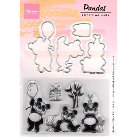 Vyřezávací šablony a razítka - Panda (MD)