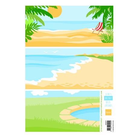PapírA4 na pozadí, dovolená (MD)