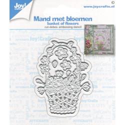 Vyřezávací šablona - košík s květinami (JC)