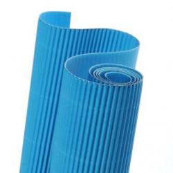 E - Vlnitá lepenka 50x70cm v roli, mořská modrá (F)