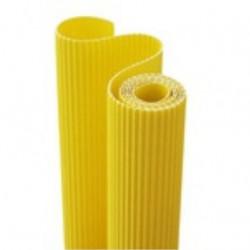 E - Vlnitá lepenka 50x70cm v roli, citronově žlutá (F)
