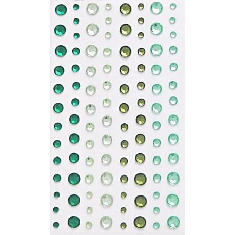 Samolepící kamínky Směs - dozelena