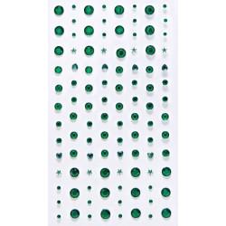 Samolepící kamínky Směs -zelené