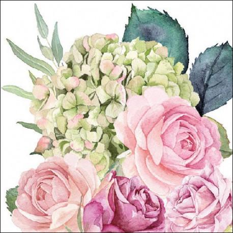 Růže a hortenzie 33x33