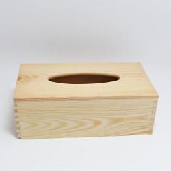 Poklop - dřevěná krabička na kapesníky z masivu, s vysouvacím dnem