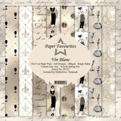 Sada papírů 15x15 Vin Blanc (PF)