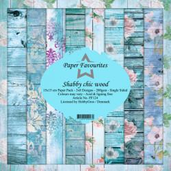 Sada papírů 15x15 Shabby Chic Wood (PF)