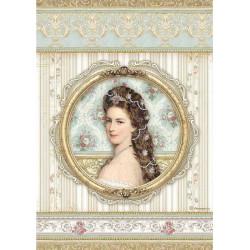 Papír rýžový A4 Princess, obraz ženy