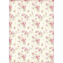 Papír rýžový A4 Sweety, drobné růžičky