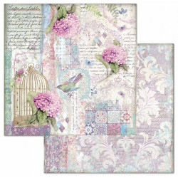 Hortensia, klícka a písmo 30,5x30,5 scrapbook
