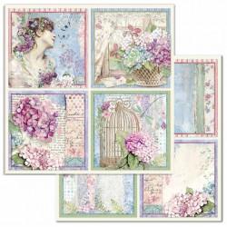 Hortensia, 4 obrázky 30,5x30,5 scrapbook