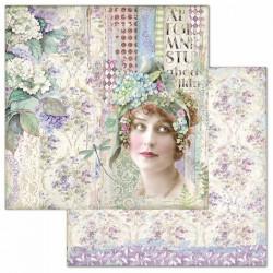 Hortensia, žena 30,5x30,5 scrapbook