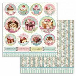 Sweety, malé kulaté obrázky 30,5x30,5 scrapbook