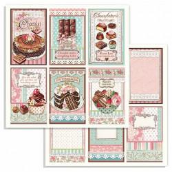 Sweety, 6 čokoládových výrobků 30,5x30,5 scrapbook