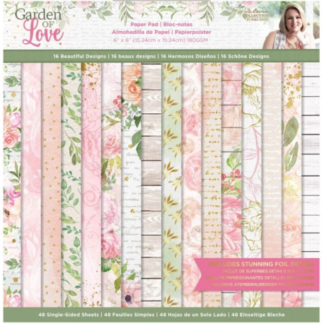 Sada papírů 15x15 Garden of Love (Crafter´s Companion)