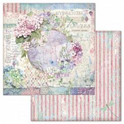 Hortensia, motiv v kruhu 30,5x30,5 scrapbook