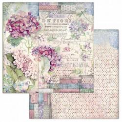 Hortensia, květy 30,5x30,5 scrapbook