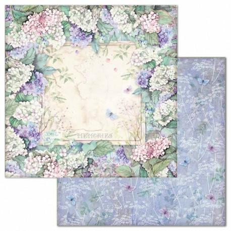 Hortensia, rámeček z květů 30,5x30,5 scrapbook