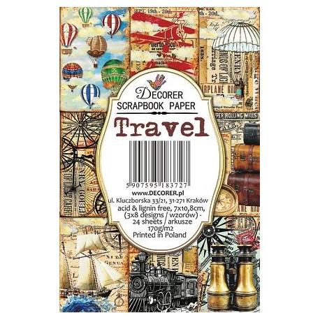 Sada scrap.kartiček 7x10,8cm - Travel (Decorer)
