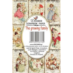 Sada scrap.kartiček 7x10,8cm - The Growing Family (Decorer)