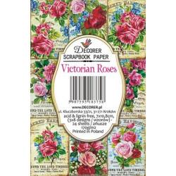 Sada scrap.kartiček 7x10,8cm - Victorian Roses (Decorer)