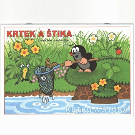 Omalovánky Krtek a štika