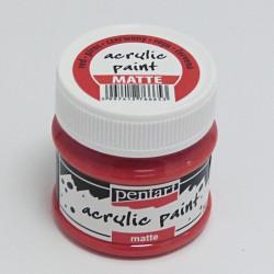 Akrylová barva Pentart 50ml - červená, matná
