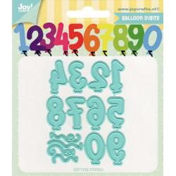 Vyřezávací šablony - Balónky číslice (JC)