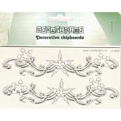 Bordury s vločkami - 2ks chipboards