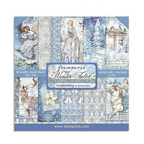 Sada papírů 20,3x20,3 190g Winter Tales
