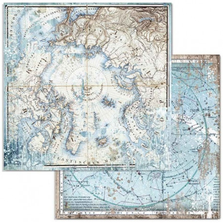 Arctic Antarctic, mořské mapy 30,5x30,5 scrapbook