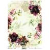 Papír rýžový A4 Tajemná zahrada, květy akvarel