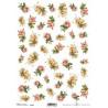 Papír rýžový A4 Malé růžičky růžové a žluté