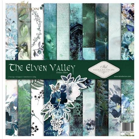 Sada papírů 31x32cm - Krajina elfů (ITD)