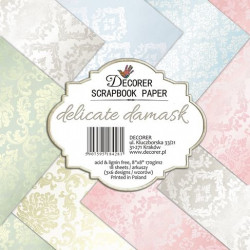 Sada papírů Delicate Damask 20x20 (Decorer)