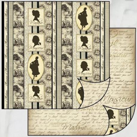 Monsieur et Madame 30x30 scrapbook