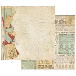 Teddy Bear, visačky 30,5x30,5 scrapbook