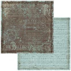 Music, notový záznam 30,5x30,5 scrapbook