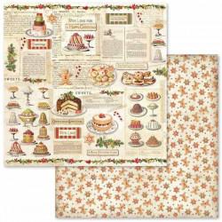Christmas Vintage, cukroví 30,5x30,5 scrapbook