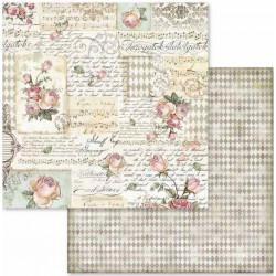 Pink Christmas, růže a vzory 30,5x30,5 scrapbook