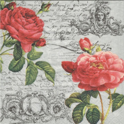 Růže, písmo, ornament 33x33