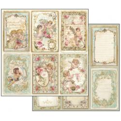 Andílci, kartičky 30,5x30,5 scrapbook