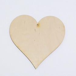 Srdce dřevěné k zavěšení - 15x15 (laser)