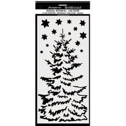 Šablona Mix Media 12x25 - Vánoční strom (Stamperia)