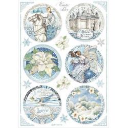 Papír rýžový A4 Winter Tales, kulaté obrázky 2