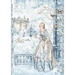 Papír rýžový A4 Winter Tales, víla ve sněhu