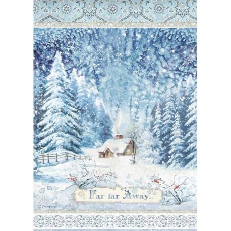 Papír rýžový A4 Winter Tales, daleko, předaleko