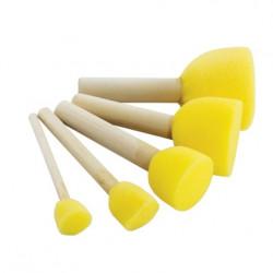Tupovací houbičky 5ks v balení (různý rozměr)