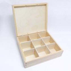 Krabička na čaj 9 komor obdélník