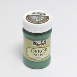 Dekor Paint Soft 100ml zelená khaki (Pentart)
